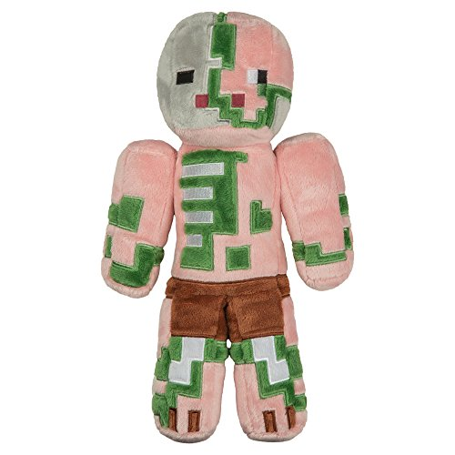 "JINX Minecraft Zombie Pigman Plush Stuffed Toy, Multi-Colored, 12"" Tall"