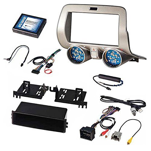 PAC RPK5-GM4101 Chevrolet Camaro Integrated Radio Replacement Kit 2010-15, Gray