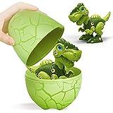 Take Apart Dinosaur Toys with Dinosaur Eggs DIY STEM Building Toys Set for Kids 3-7, Green T-Rex