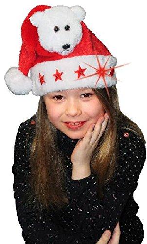Sandy - Bonnet noël Pelucheux Ourson Enfant