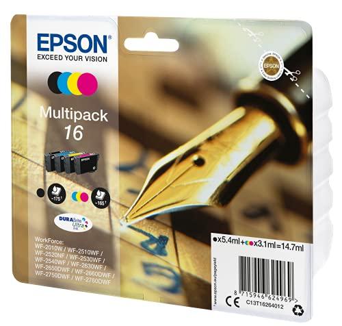 Epson C13T16264022 Original Tintenpatronen Pack of 4