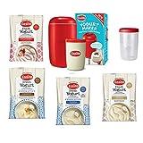 Red EasiYo Yogurt Maker (1kg) Starter Pack   Includes 4 Sachets of Yogurt
