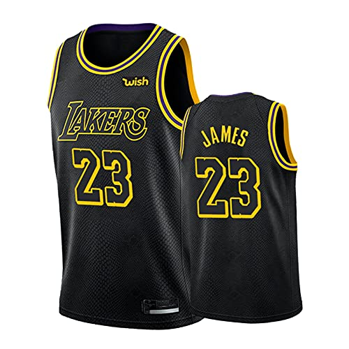 GJKL Camiseta de baloncesto Jámès 2021 para hombre, 23# Lákèr con logotipo personalizable, talla S