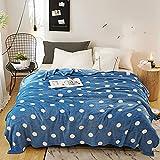 KLily Manta A Rayas Material De Poliéster Manta Lavable para La Siesta del Dormitorio De Los Niños Dormitorio De La Oficina Manta De Aire Acondicionado Manta del Sofá