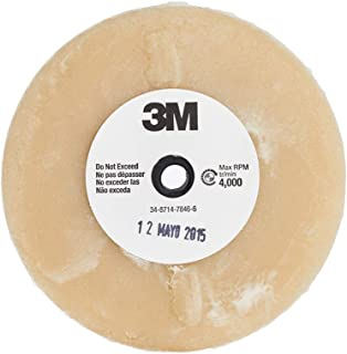 "3M Stripe Off Wheel – Adhesive Remover – Eraser Wheel – Removes Decals, Stripes, Vinyl, Tapes and Graphics – 4"" diameter x 5/8"" thick – 07499 – Pack of 1"