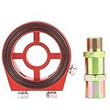 Yctze Piastra radiatore olio, radiatore filtro alluminio universale in alluminio Piastra a sandwich Kit adattatore misuratore temperatura olio
