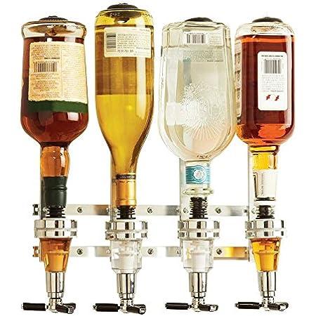 4//6 Bottle Liquor Dispenser Rotary//Shots Wall Mount Wine Drinks Whisky Beer Bar
