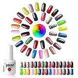 Choisir Lot de 10 Vernis à ongles Semi-permanent Nail Gel UV LED Soak Off Nail Polish Manicure Color Shiny