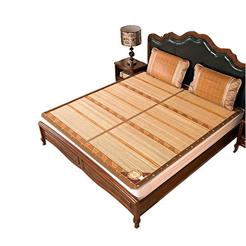 BJL-mat Carbonizado de bambú esterilla de uso familiar colchón de verano fresco cama asiento de enfriamiento almohadilla de dormir de bambú plegable oyo 0.8x1.9m