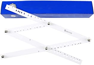 ULTNICE Angle Layout Measuring Ruler Zooming Scale Ruler Magnification Drawing Ruler Tools for Angle Measurement Student S...