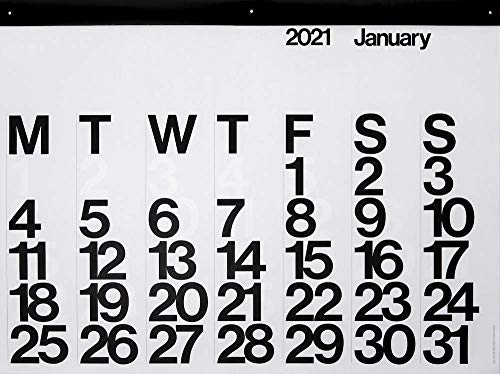2021 Stendig Wall, Office and Home Calendar | Authentic Original Design of Massimo Vignelli.