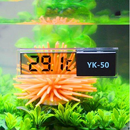 Luwu-Store LCD 3D Digitale Elektronische Temperaturmessung Aquarium Temp Meter Aquarium Thermometer Temperaturregelung Zubehör 1 Stück
