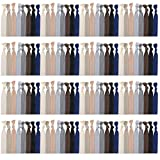 120 Pack Neutral Color No Crease Ribbon Elastics Hair Ties Women Yoga Knotted Ponytail Holder