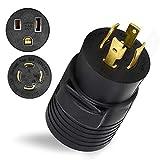 HITBOX Welder Dryer Plug Generator Adaptor NEMA L14-30P to 6-50R 240V 30 4-Prong...