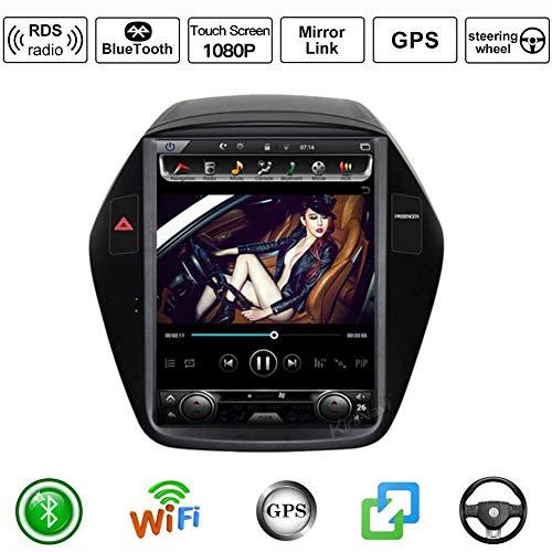 Android Auto Stereo Radio Double Din Sat NAV für Hyundai Tucson Ix35 2010-2014 GPS Navigation 10,4 Zoll vertikaler Bildschirm DSP RDS Multimedia Player Videoempfänger