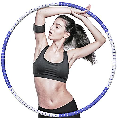 AOYATE Hula Hoop Reifen Erwachsene & Kinder zur Fitness und Abnehmen Schnell, Hoola Hoop Reifen Erwachsene mit Gewicht 2kg, Hullahub Reifen mit Abnehmbar Edelstahlkern