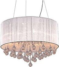 "GOWE Modern 6 LED Bulbs W24"" X H10"" Crystal Chandelier Pendant Lamp RainDrop suspension Light lighting 110V/ 240V"