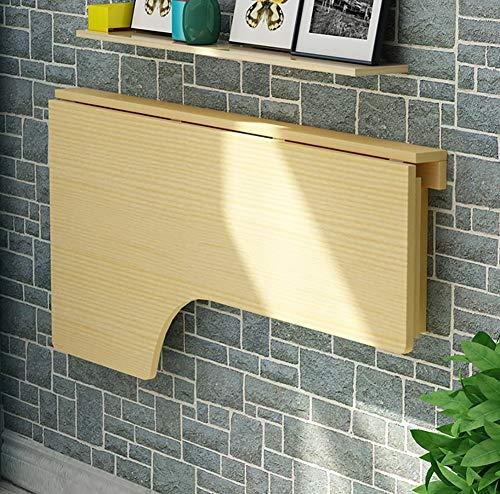 LXDZXY Escritorio de la computadora montado en la pared del hogar - Mesa de escritorio de la computadora de la esquina de madera sólida Mesa de pared plegable Tipo de escritorio de la mesa de