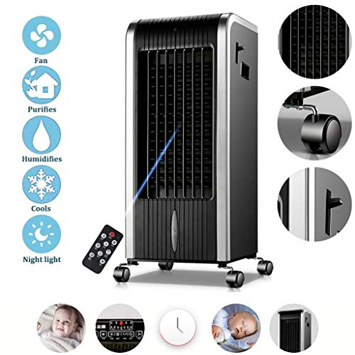 XCXC 7 Liter Tragbarer Luftkühler, Tragbare 4-in-1 Verdunstungsluftkühler, 3 Geschwindigkeiten Mit Oszillation, Luftbefeuchter Und Luftreiniger, 8-Stunden-Timer Und Der Wassertank