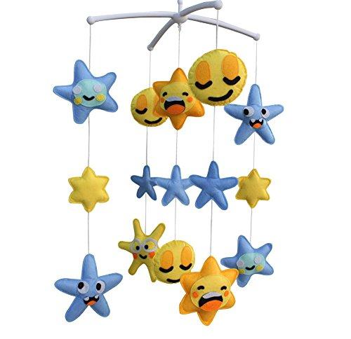 Berceau de lit de bébé rotatif coloré jouets de bébé [Jour et nuit]