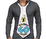 CRAVATTONE 40 ANNI Cravatta Gadget idea regalo festa 40° Compleanno uomo