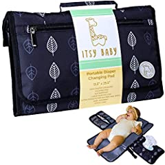 ✅EXTRA LONG WATERPROOF CHANGING MAT – This portable changing pad comes with EXTRA INCHES for bigger babies; Waterproof surface makes it EASY TO WIPE CLEAN; The zipper and wipes pockets are also water resistant inside to add extra confidence in case a...