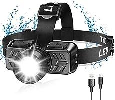 Cocoda Lampe Frontale, USB Rechargeable 600 Lumens Lampe Frontale Puissante avec Zoomable et Pivotant à 90°, 4 Modes...
