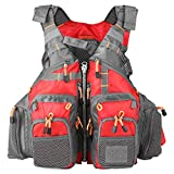 Lixada フィッシングベスト フローティングベスト ライフジャケット 通気性よく 多機能 95kgまでの負荷力