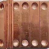 銅製アース線10本 長さ 150mm 幅 20mm 厚さ 0.5mm 穴14