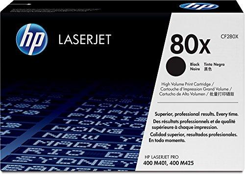 HP 80X (CF280X) schwarz Original Toner mit hoher Reichweite für HP Laserjet Pro M401, HP Laserjet Pro M425