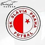 PMSMT Pegatinas de Coche república Checa slavia Praha fotbal calcomanías Creativas Estilo de sintonización automática vinilos d20