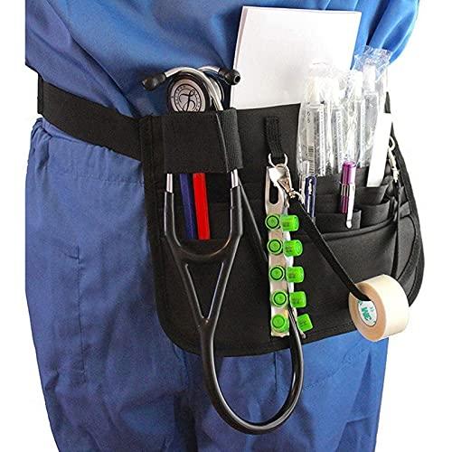 Cinturón Organizador De Enfermería - Riñonera De Enfermera Con Soporte Para Estetoscopio Y Soporte Para Cinta - Cinturón De Enfermería De Utilidad Premium, EMT, CNA, NP, PA Para Estetoscopios, Tijer