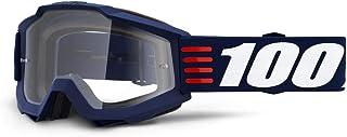 100 Percent ACCURI Goggle Art Deco-Clear Lens Gafas de protección, Adultos Unisex, Azul-Cristal Transparente, Mediano