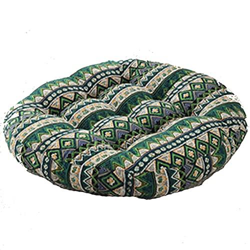 bänkkudde Boho-kudde, Rund Meditation Randig Stil Sittdyna, Bomulls- och Linnetyg, för Vardagsrum Sovrum Balkong Trädgårdsfest Dekoration (23,6 Tum)(Size:2 pcs,Color:Style 1)