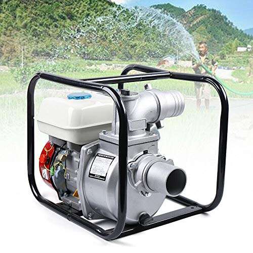 CNCEST 4-Stroke Commercial Engine Gasoline Water Pump 7.5 HP 3 Inch Portable Gas-Powered Water Transfer Pump Landscaping or Gardening Irrigation