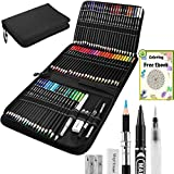 DazSpirit 72 Professional Watercolor Pencils Set (Water-soluble) with Accessories and Premium Carry Bag