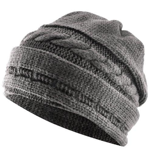 Demarkt® Fashion Bonnet Chapeau de Printemps Automne Hiver pour Homme/Femme Moderne Couleur Gris Foncé