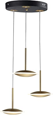 Saucer Led 3-Light Pendant