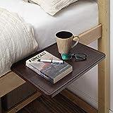 """SunnyPoint Bedside Shelf, Office Divider Shelf; Clamp on Shelf for Bunk Bed, Lofts & Bed Frame, and Office Divider (L -17"""" X 11.6"""" X 2.3"""", Dark Oak)"""