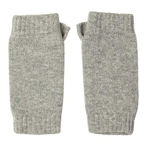 Johnstons of Elgin Wrist Warmer Womens Gloves One Size Silver
