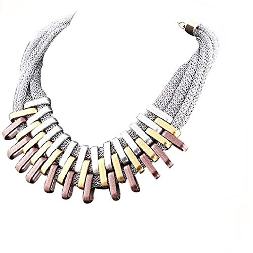 N-K PULABO Women Punk Alloy Statement Bib Ethnic Collar Necklace Party Jewelry Dependable Performance Delicate