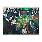 Poster - Edvard Munch at The Roulette Table in Monte Carlo