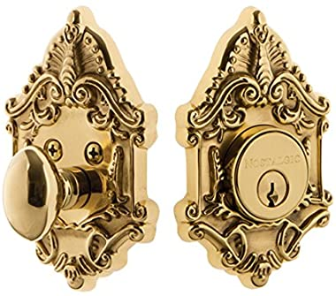 Nostalgic Warehouse Victorian Single Cylinder Deadbolt, Polished Brass