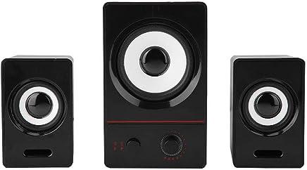 VBESTLIFE Altoparlanti per Computer 2.1 Surrounding Altoparlante Basso con Cancellazione del Rumore Subwoofer Speaker Stereo Diffusore Audio Casse per PC Laptop (Nero) - Confronta prezzi