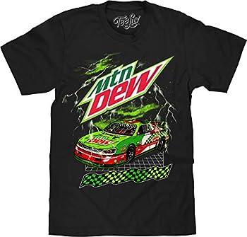 Tee Luv MTN Dew Racecar T-Shirt - Mountain Dew Racing Shirt  Black   M