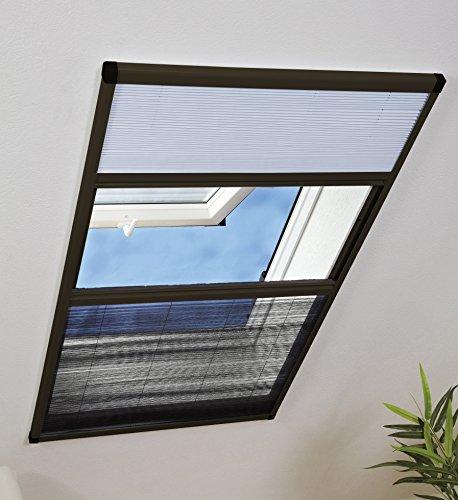 Culex 100290102-VH Kombi-Dachfenster-Plissee 110x160cm braun