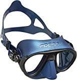 Cressi DS425550, Maschera Subacquea Unisex – Adulto, Blu Nery, Taglia Unica