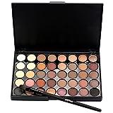 Xmansky Schimmer Matt Mineral Pigment Lidschatten Palette Beauty Make-up Set 40 Farbe+Pinselsatz...