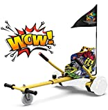 Hoverkart para Patinete eléctrico Asiento Kart para Self Balancing Scooter Longitud Ajustable, Compatible con Todos los...