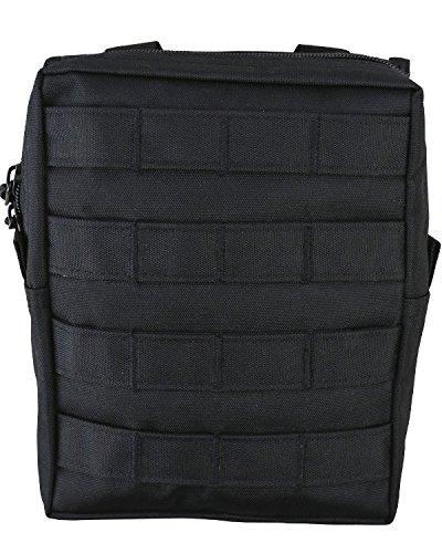 armée Combat militaire MOLLE Voyage utilitaire Surplus Ceinture en toile Sac pochette Noir, noir